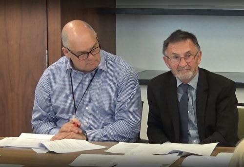 Merseyside Waste Disposal Authority (Merseyside Recycling and Waste Authority) 21st June 2019 left Carl Beer (Chief Executive), right Cllr Tony Concepcion (Chair)