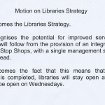 Libraries Motion (Wirral Council) Cabinet 8th December 2011