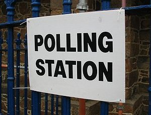sign reading Polling Station