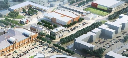 Indicative illustration of Neptune Development Limited's masterplan for Birkenhead Town Centre