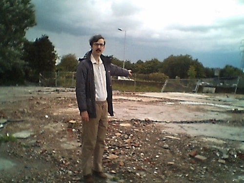 John Brace on the site of the former Corsair pub, Bidston Village