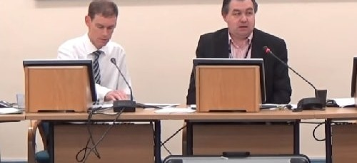 Pensions Committee (Merseyside Pension Fund) 16th November 2015 L to R Peter Wallach, Cllr Paul Doughty (Chair)