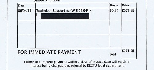 Wirral Council invoice 46 Tom Kaye £571.95