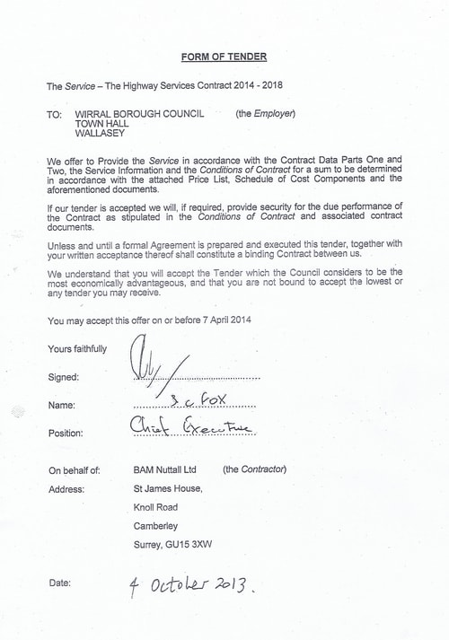 Bam Nuttall contract Wirral Council page 22