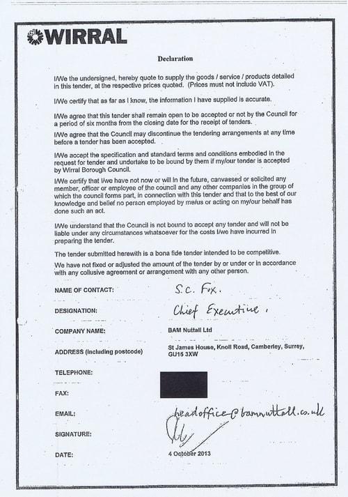 Bam Nuttall contract Wirral Council page 23