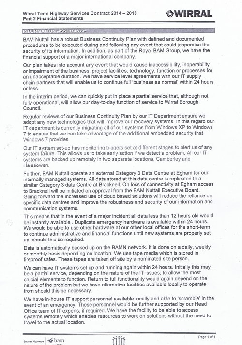 Bam Nuttall contract Wirral Council page 25