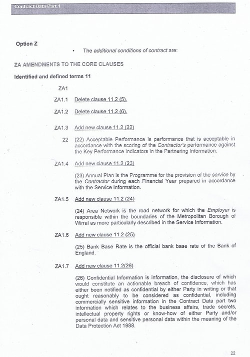 Bam Nuttall contract Wirral Council page 49