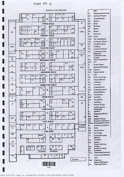 Birkenhead Market lease Birkenhead Market Limited Wirral Borough Council plan number 2 internal floor plan