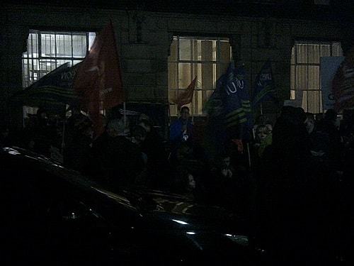 protest outside Wallasey Town Hall 17th December 2015 photo 4 of 6 thumbnail