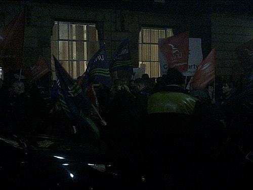 protest outside Wallasey Town Hall 17th December 2015 photo 5 of 6 thumbnail