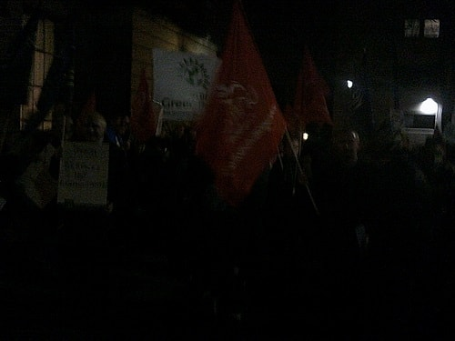 protest outside Wallasey Town Hall 17th December 2015 photo 6 of 6 thumbnail