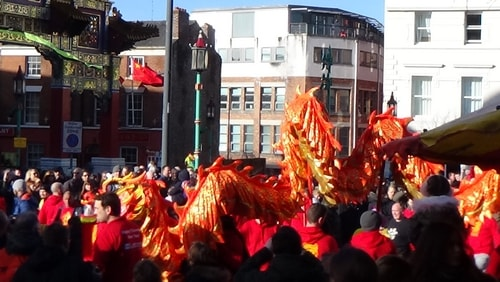 Chinese New Year Liverpool 2016 Chinese dragon 7th February 2016
