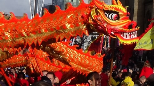 Chinese New Year Liverpool 2016 Chinese dragon  7th February 2016 photo 10