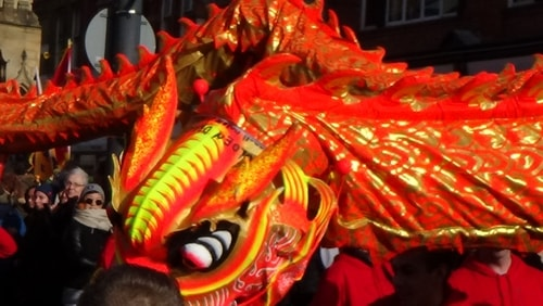 Chinese New Year Liverpool 2016 Chinese dragon  7th February 2016 photo 12