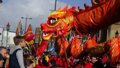 Chinese New Year Liverpool 2016 Chinese dragon  7th February 2016 photo 13