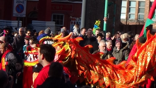 Chinese New Year Liverpool 2016 Chinese dragon 7th February 2016 photo 2