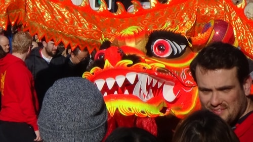 Chinese New Year Liverpool 2016 Chinese dragon 7th February 2016 photo 3