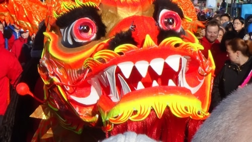 Chinese New Year Liverpool 2016 Chinese dragon 7th February 2016 photo 4