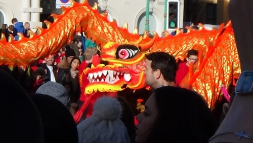 Chinese New Year Liverpool 2016 Chinese dragon 7th February 2016 photo 5