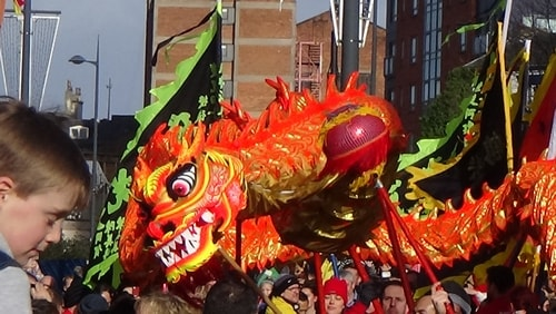 Chinese New Year Liverpool 2016 Chinese dragon  7th February 2016 photo 6