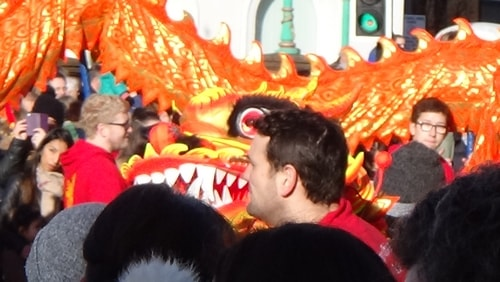 Chinese New Year Liverpool 2016 Chinese dragon 7th February 2016 photo 7