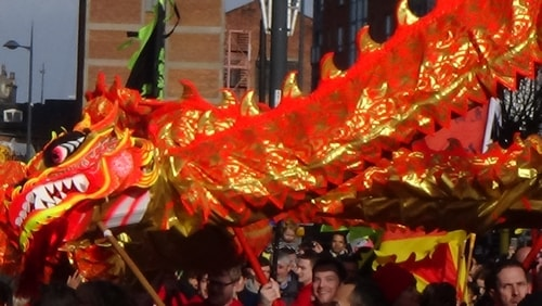 Chinese New Year Liverpool 2016 Chinese dragon  7th February 2016 photo 8