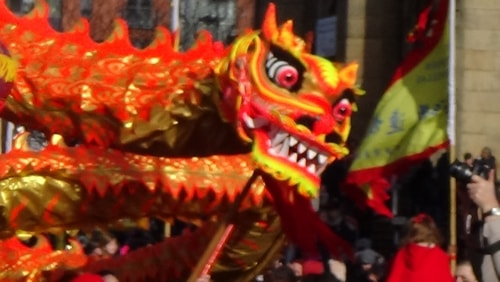 Chinese New Year Liverpool 2016 Chinese dragon  7th February 2016 photo 9
