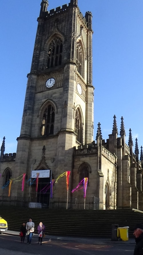 Chinese New Year Liverpool 2016 Church of St Luke (Liverpool) known as the Bombed Out Church Junction of Berry Street and Leece Street photo 4  7th February 2016
