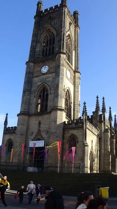 Chinese New Year Liverpool 2016 Church of St Luke (Liverpool) known as the Bombed Out Church Junction of Berry Street and Leece Street photo 5  7th February 2016