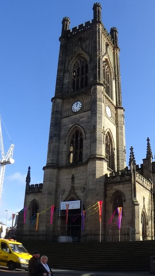 Chinese New Year Liverpool 2016 Church of St Luke (Liverpool) known as the Bombed Out Church Junction of Berry Street and Leece Street photo 8  7th February 2016