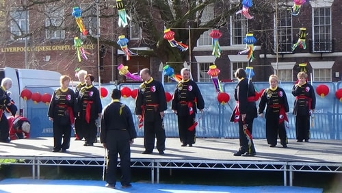 Chinese New Year Liverpool 2016 Tai Chi demonstration Great George Square 7th February 2016 photo 1