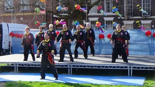 Chinese New Year Liverpool 2016 Tai Chi demonstration Great George Square 7th February 2016 photo 10