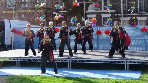 Chinese New Year Liverpool 2016 Tai Chi demonstration Great George Square 7th February 2016 photo 11