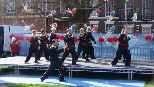 Chinese New Year Liverpool 2016 Tai Chi demonstration Great George Square 7th February 2016 photo 13
