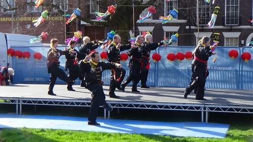 Chinese New Year Liverpool 2016 Tai Chi demonstration Great George Square 7th February 2016 photo 14