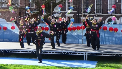 Chinese New Year Liverpool 2016 Tai Chi demonstration Great George Square 7th February 2016 photo 19