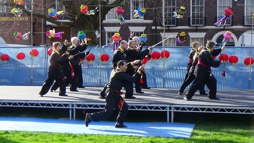 Chinese New Year Liverpool 2016 Tai Chi demonstration Great George Square 7th February 2016 photo 21
