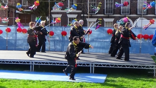 Chinese New Year Liverpool 2016 Tai Chi demonstration Great George Square 7th February 2016 photo 22