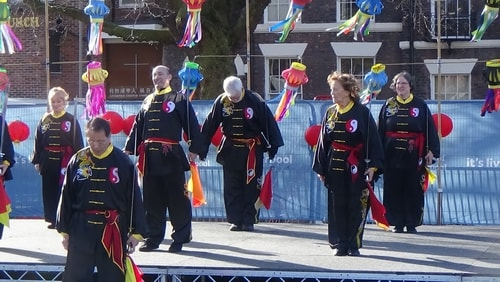 Chinese New Year Liverpool 2016 Tai Chi demonstration Great George Square 7th February 2016 photo 23