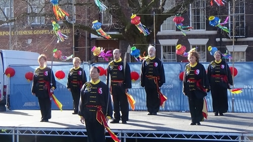 Chinese New Year Liverpool 2016 Tai Chi demonstration Great George Square 7th February 2016 photo 25