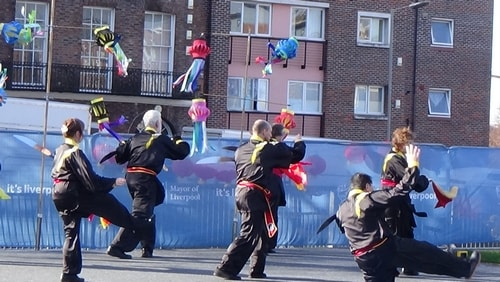 Chinese New Year Liverpool 2016 Tai Chi demonstration Great George Square 7th February 2016 photo 30