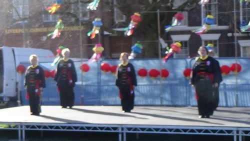 Chinese New Year Liverpool 2016 Tai Chi demonstration Great George Square 7th February 2016 photo 33