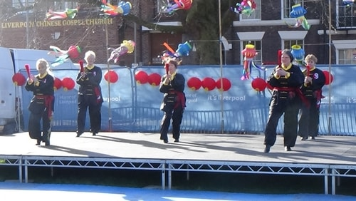 Chinese New Year Liverpool 2016 Tai Chi demonstration Great George Square 7th February 2016 photo 34