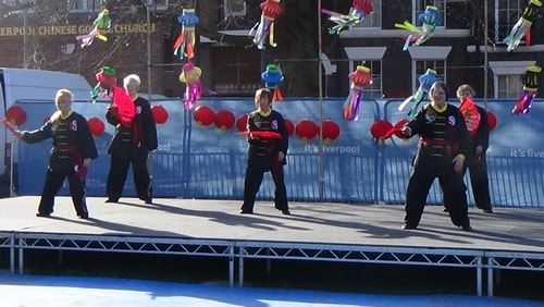 Chinese New Year Liverpool 2016 Tai Chi demonstration Great George Square 7th February 2016 photo 35