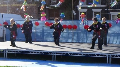 Chinese New Year Liverpool 2016 Tai Chi demonstration Great George Square 7th February 2016 photo 36