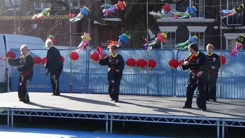 Chinese New Year Liverpool 2016 Tai Chi demonstration Great George Square 7th February 2016 photo 37