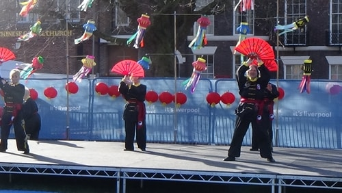 Chinese New Year Liverpool 2016 Tai Chi demonstration Great George Square 7th February 2016 photo 39