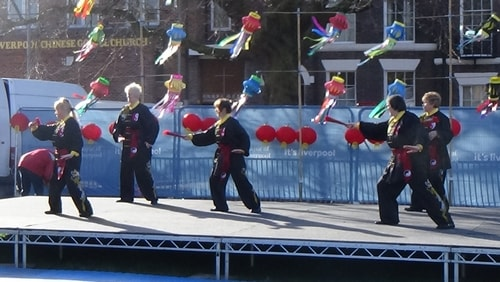 Chinese New Year Liverpool 2016 Tai Chi demonstration Great George Square 7th February 2016 photo 41