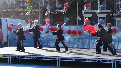 Chinese New Year Liverpool 2016 Tai Chi demonstration Great George Square 7th February 2016 photo 43