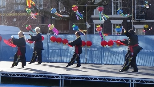 Chinese New Year Liverpool 2016 Tai Chi demonstration Great George Square 7th February 2016 photo 47